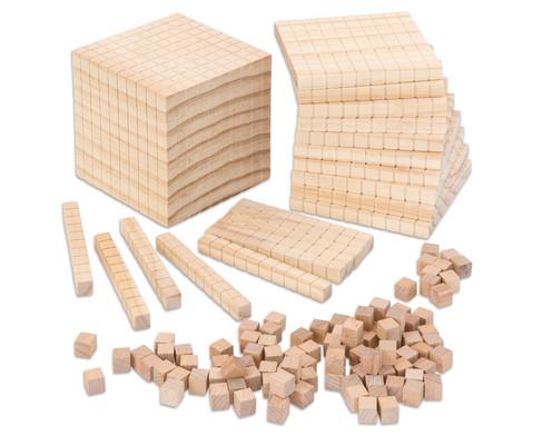 Zehnersystemsatz aus Holz