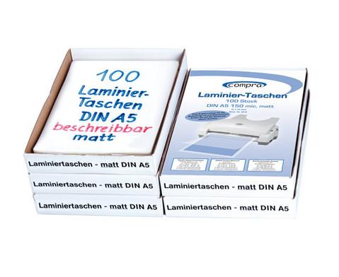 Karton mit 100 Compra Laminierfolien matt DIN A5 150 mic-2