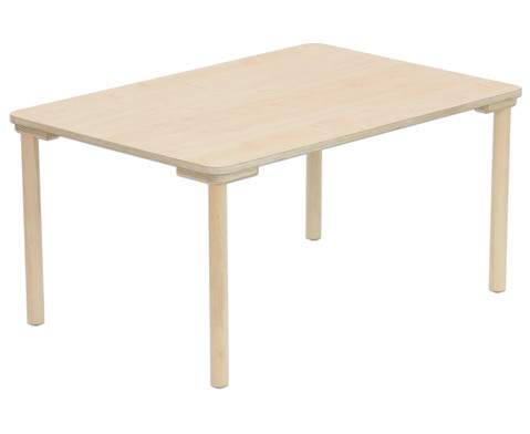 Rechteck-Tisch 80 cm breit Hoehe 40 cm