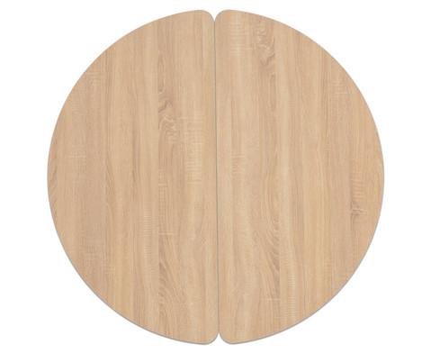 Tisch halbrund Hoehe 25 cm-2