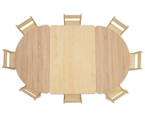 Tisch halbrund Hoehe 40 cm-4