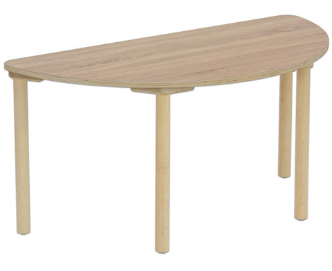Betzold Tisch halbrund Tischhoehe 52 cm