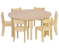 8-tlg. Möbelset Baccus mit 2 Halbrundtischen - Tischhöhe 40 cm