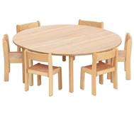 Tischset: Trentino, 2x Halbrundtisch Höhe: 52cm, Sitzhöhe: 30cm