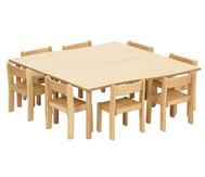 Tischset: Trentino, 2x Rechtecktisch Höhe: 40cm, Sitzhöhe: 22 cm