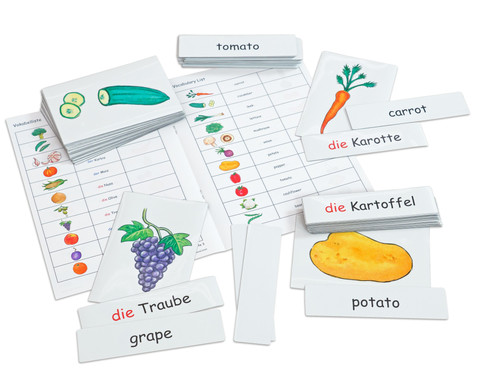 Betzold Flash Cards - Obst-Gemuese