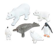 Arktische Tiere, 6-tlg. Set