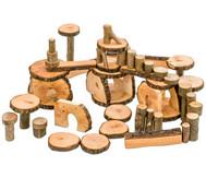 144 Baumklötze in fahrbarer Kiste