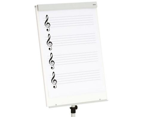 Flipchart-Block mit Notenlinien und Violinschluessel-3
