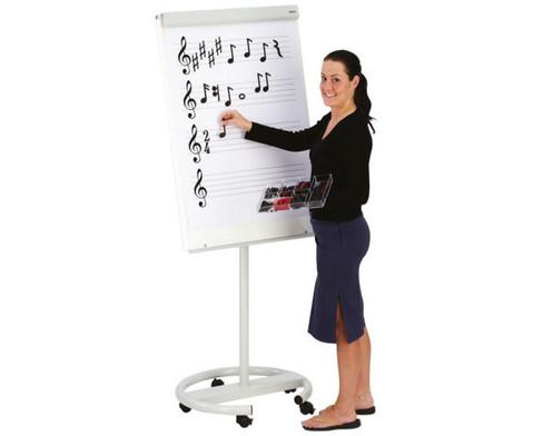 Flipchart-Block mit Notenlinien und Violinschluessel-4