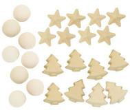 Papp-Weihnachtsanhänger, 12 Stück