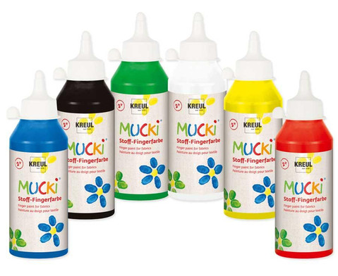 MUCKI Stoff- Fingerfarben 250ml-1