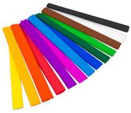 Krepp-Papier in verschiedenen Farben, je 10 Rolle