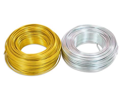 Aludraht 2mm 65m silber oder gold