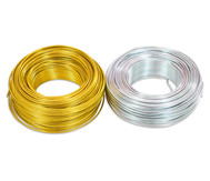 Aludraht 2mm 65m, silber oder gold