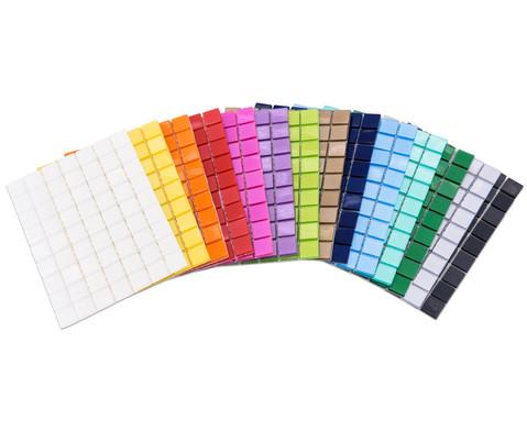 Selbstklebende Mosaikplaettchen 1 x 1 cm