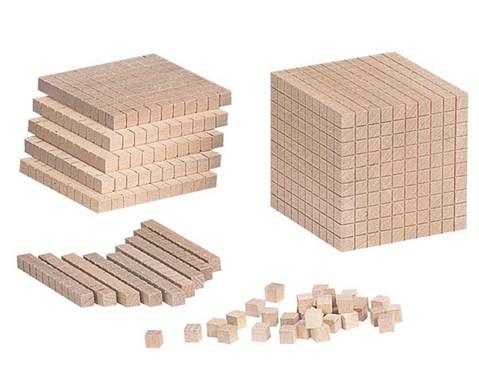Zehnersystem-Teile aus Holz