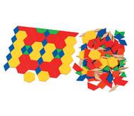 Pattern-Blocks aus Kunstoff oder Holz