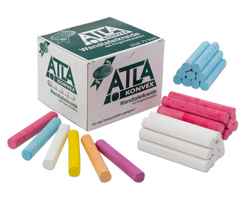 Karton mit 72 ATLA-Kreiden abgerundet
