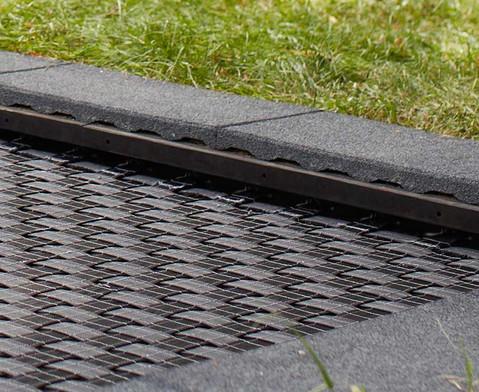 EUROTRAMP Rammschutzleisten fuer die Bodentrampoline