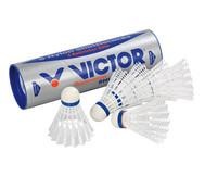 6 weiße Badminton-Bälle