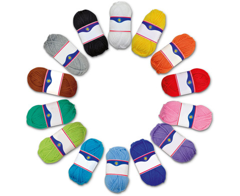50 g Wolle verschiedene Farben