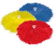 Pompons in Rot, Gelb oder Blau