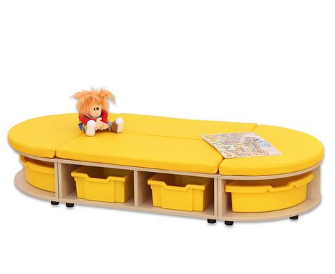 Maddox Sitzkombination 3 gelbe Sitzmatten