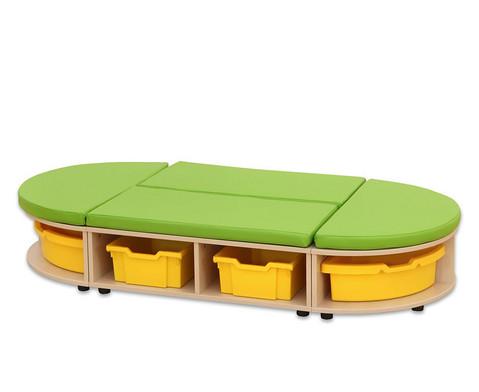 Maddox Sitzkombination 3 gruene Sitzmatten