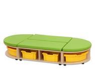 Maddox Sitzkombination 3, grüne Sitzmatten