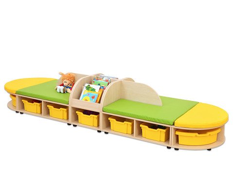 Maddox Sitzkombination 5 gruen-gelbe Sitzmatten-1