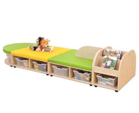 Maddox Sitzkombination 8 Sitzmatten gruen-gelb