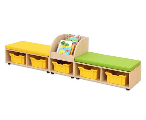 Maddox Sitzkombination 9 Sitzmatten gelb-gruen