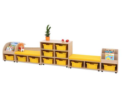 Maddox Regal- und Sitzkombination 1 gelbe Sitzmatten