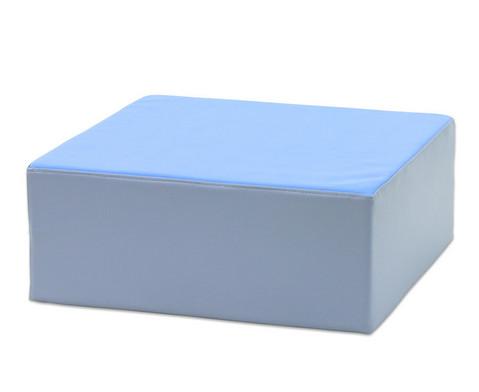 Schaumpodest in 3 Hoehen blau oder gruen