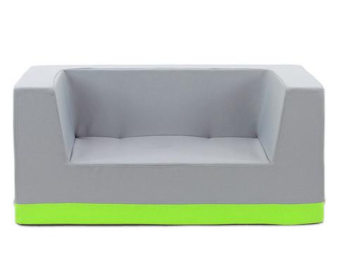 Sofa mit Rueckenlehne und Armstuetzen Webstoff