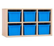 Garderoben-Hängeregale CHIPPO, mit blauen Boxen