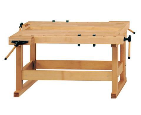 Werkbaenke mit Holzgestell