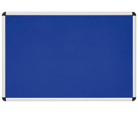 Textiltafel blau mit Alurahmen