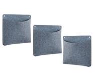 Materialtasche quadratisch, 3-er Set