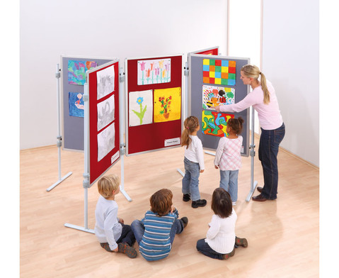 Betzold Kinder-Stellwandtafel mit Stoffoberflaeche
