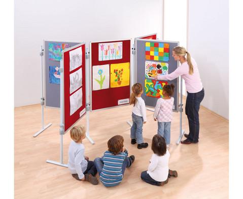 Kinder-Stellwandtafel mit Stoffoberflaeche