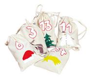 24 Baumwollsäckchen (100% Baumwolle)