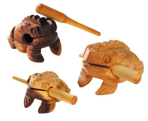 Frosch-Guiro mit Schlaegel