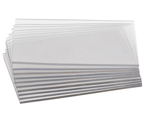 Transparentplatten in 3 verschiedenen Groessen