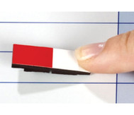 Lehrermagnet 10 x 30 mm halb farbig/halb weiß
