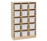 Garderoben-Fachregale CHIPPO, mit weißen Boxen