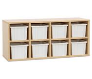 Garderoben-Hängeregale CHIPPO, mit weißen Boxen
