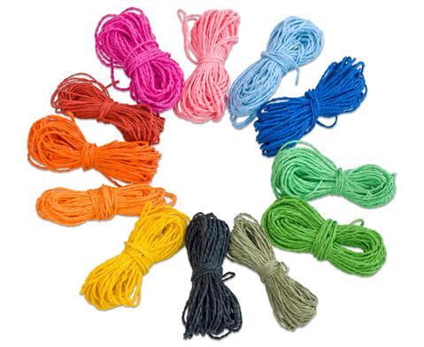 Papierkordeln in 12 Farben je 10 m-1