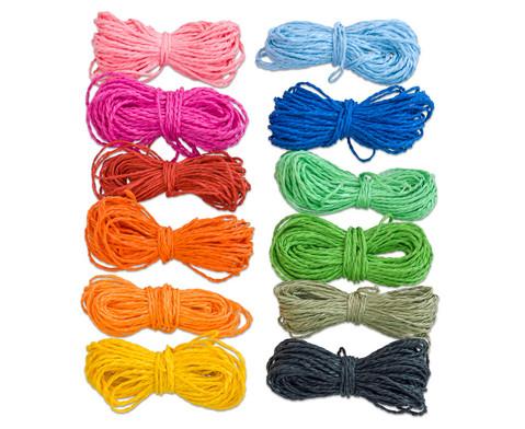 Papierkordeln in 12 Farben je 10 m-2